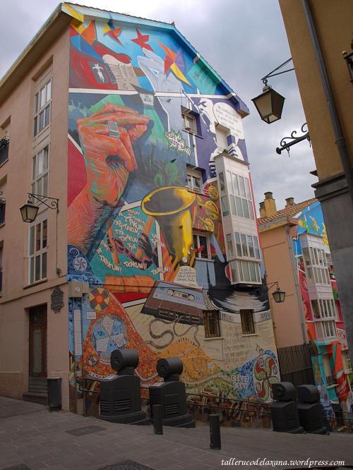 Fotos de los murales de vitoria